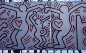 Keith Haring Artwork along FDR Drive NYC, Feb 1985